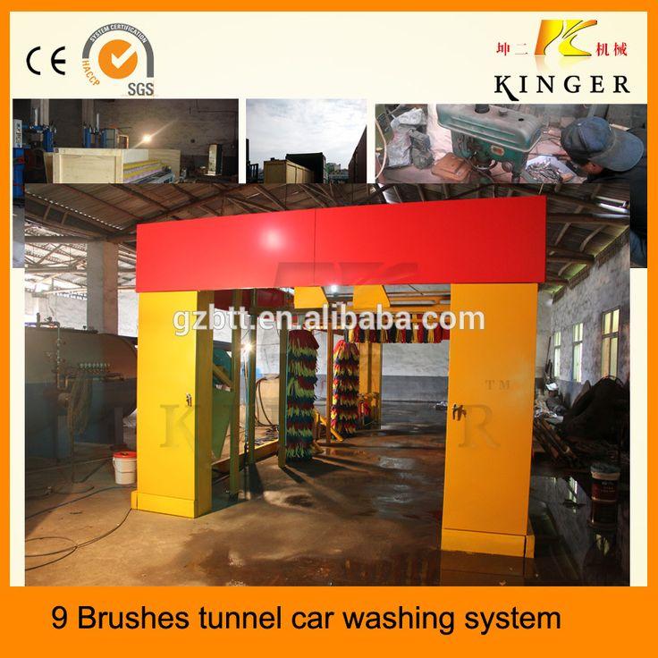 Car washing machine tunnel 7 brushes car washer foam car washing
