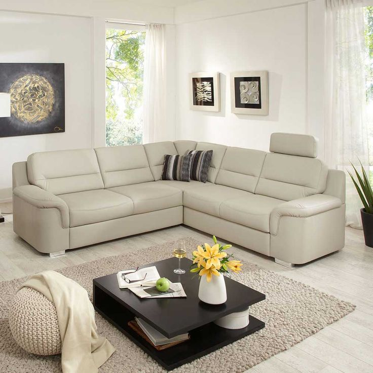 ecksofa in beige hell bettfunktion jetzt bestellen unter httpsmoebelladendirekt - Wohnzimmer Beige Sofa