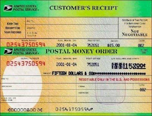 Postal Money Order Font