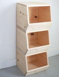 Wooden Toy Bins