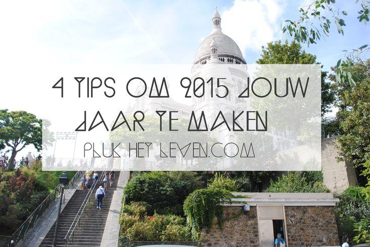 Het is 2015! Tijd om dromen waar te maken en doelen te halen. Ik geef vier tips waarmee ik zelf 2015 MIJN jaar hoop te maken. http://plukhetleven.next-chapter.nl/4-tips-om-2015-jouw-jaar-te-maken/