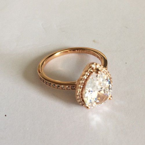 6de543f0f GENUINE PANDORA Rose Radiant Teardrops Ring 186251CZ FREE DELIVERY (eBay  Link)