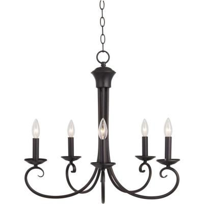 Illumine 5-Light 23 in. Oil Rubbed Bronze Single-Tier Chandelier-HD-MA43716260 - The Home Depot