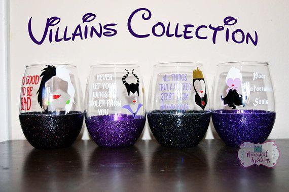 Disney Villain Wine Glass Collection Disney Evil Queen