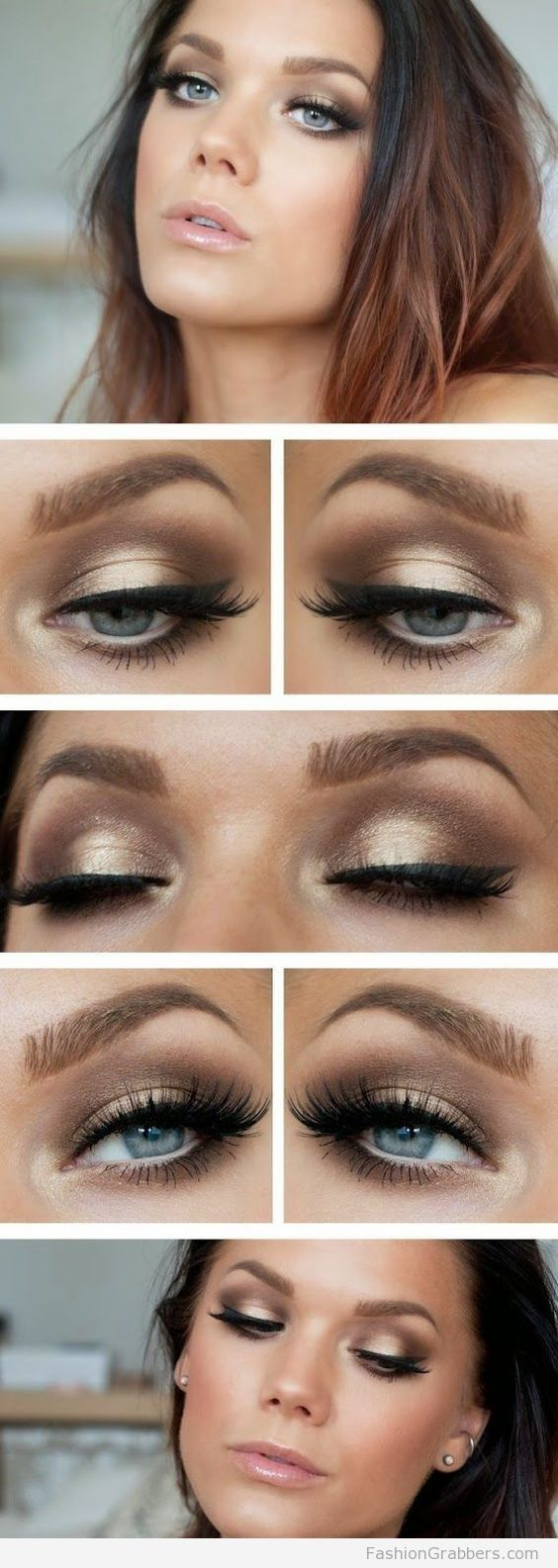 http://tipsalud.com +30 Gorgeous Golden Holiday Makeup ideas for New Years Eve Party