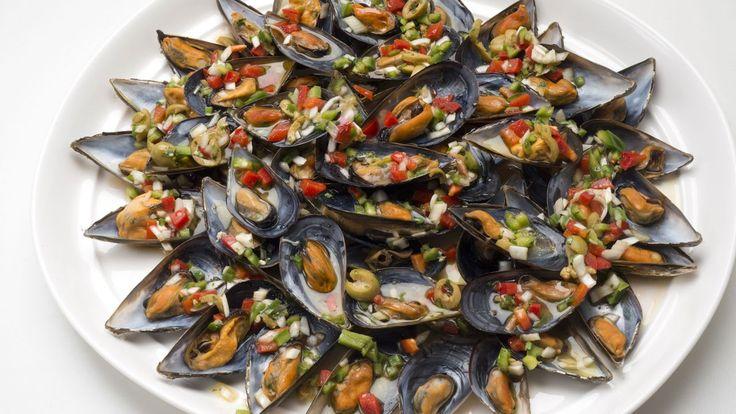 Los platos del Sueko: Mejillones a la vinagreta.