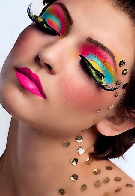 Colorful makeup - #colorfulmakeup #makeup #colors #eyeshadow #eyemakeup - bellashoot.com