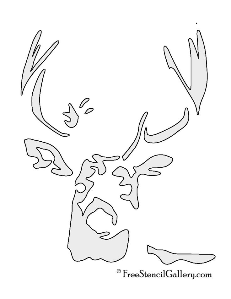 Magic image with free printable deer stencils