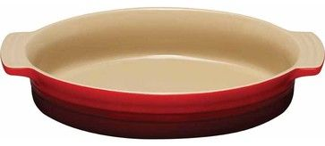 Le Creuset Stoneware 14-Inch Oval Baking Dish, Onyx traditional baking dishes
