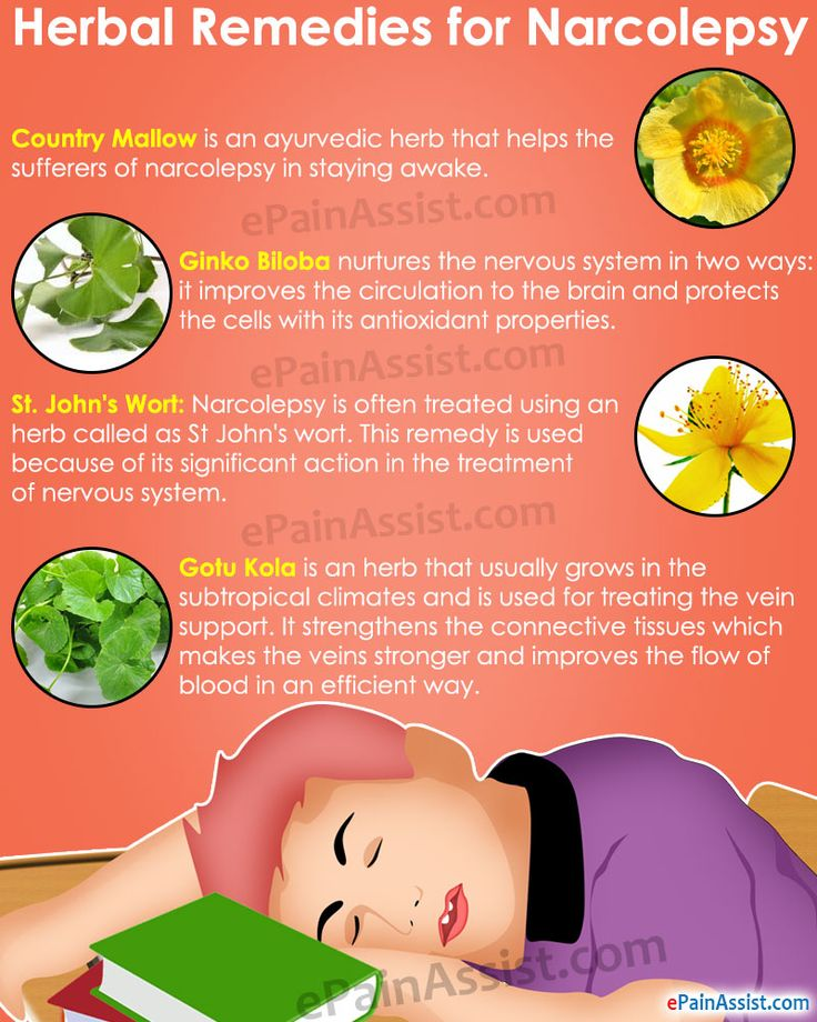 Herbal Remedies for Narcolepsy Read: http://www.epainassist.com/alternative-therapy/medical-and-alternative-treatments-for-narcolepsy