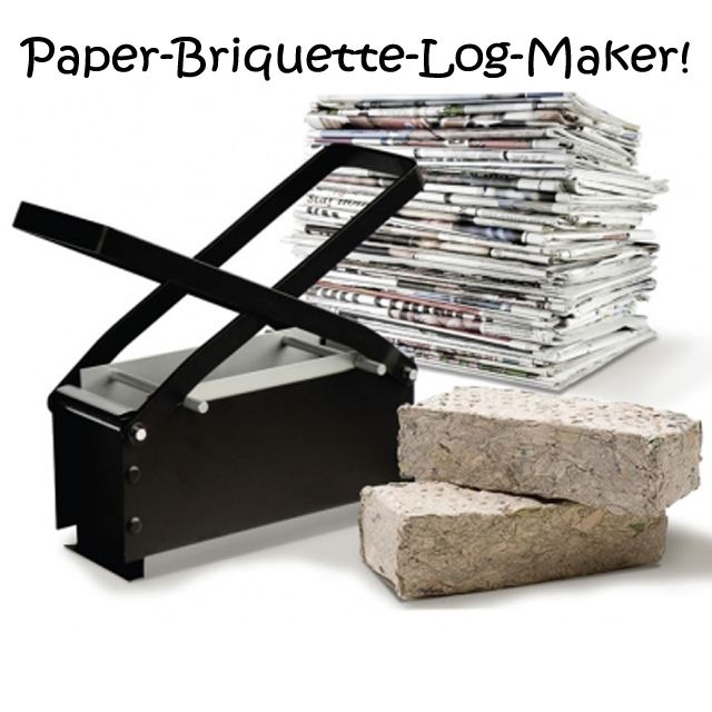 Simple Ideas That Are Borderline Genius Part 8-make briquettes out of old magazines and newspaper.