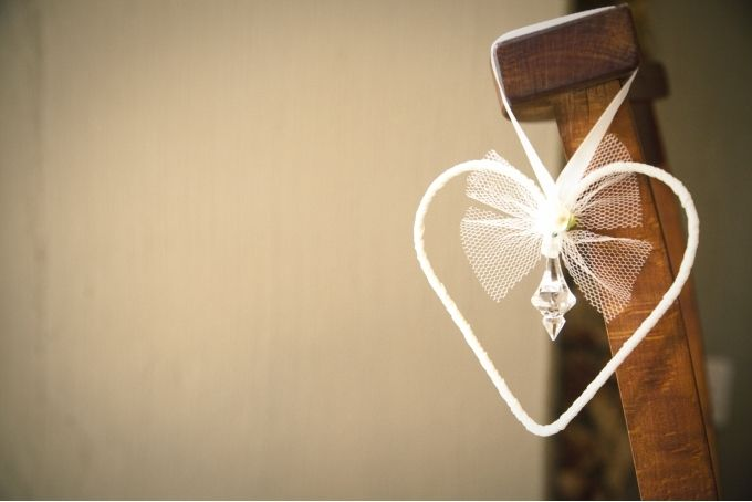 {Wedding} Set of 4 wire hearts with crystal by Lovilee
