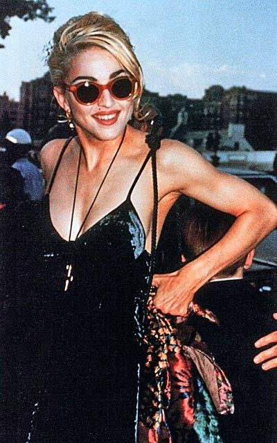 Madonna in Katherine Hamnett Dress, c.90s (from Mrs. Gorman's blog)