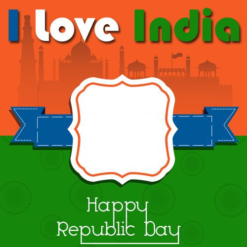 Republic Day Celebration Frame Greeting With Photo and Name.Personalize Indian Flag Greeting With Photo Online.Edit Gantantra Divas Photo Frame With Name Online.Create Republic Day Wishes Card With Custom Photo.Make Republic Day Whatsapp DP With Your Photo and Nick Name and Set as Profile DP Picture on Whatsapp and Twitter.Online Photo Frame Generator For Global Festival Pics.Write Custom Name and Put Your Photo on Exiting New Designer Photo Frames and Download To Mobile and PC.