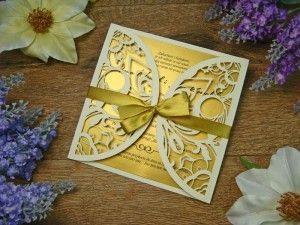 zaproszenia na ślub z kolekcji Ślubna Koronka I wzór 30