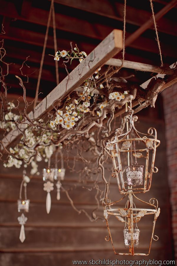 Vintage Ladder Hanging