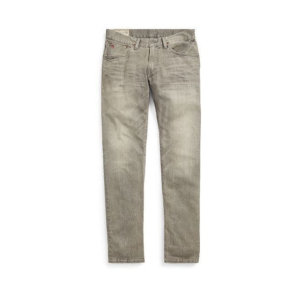 Polo Ralph Lauren Hampton Straight-Fit Jean (105 CAD) ❤ liked on Polyvore featuring men's fashion, men's clothing, men's jeans, mens embroidered jeans, mens gray jeans, mens zipper jeans, mens grey jeans and mens faded jeans