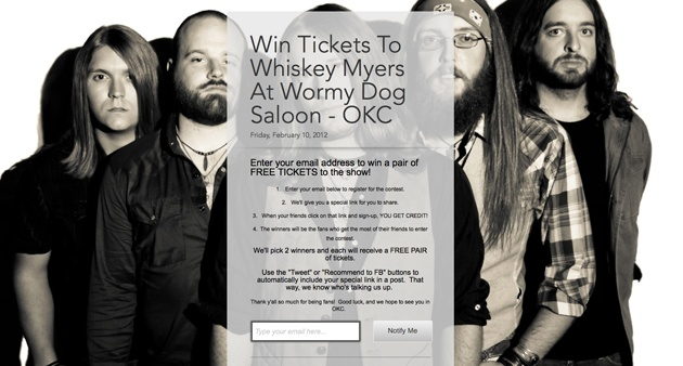 Promote an event - example from MakeRacket and Ambiance Artists - Whisky Myers