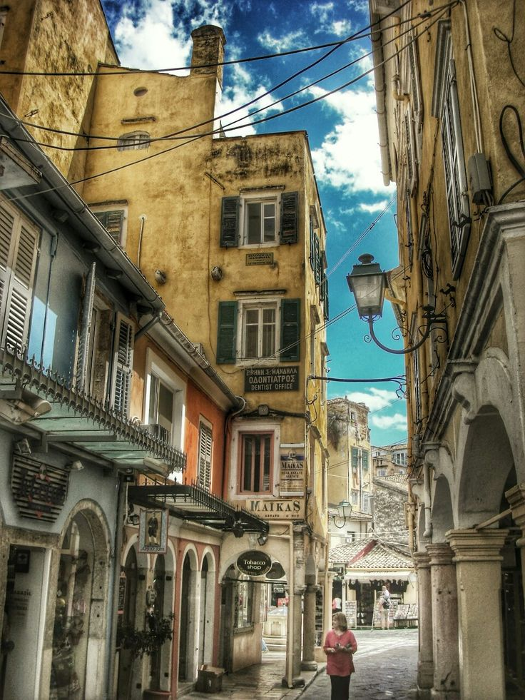 GREECE CHANNEL | Streets of Corfu Town