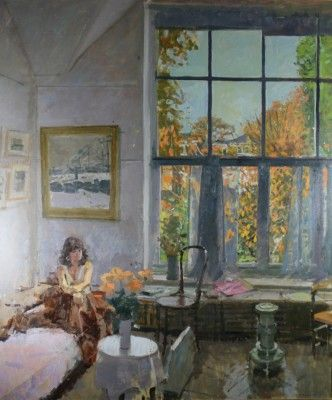 Ken Howard artist, paintings and art at the Red Rag British Art Gallery
