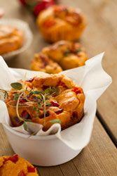 Muffins aux tomates s�ch�es, thym et Comt�