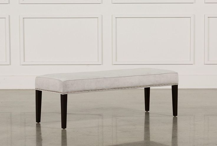 A graceful, versatile accent piece, our Madeline bench can enhance any space. This design provides extra seating in bedrooms, and even serves as a unique cocktail table or ottoman in living areas. Through our Special Order program, you also have fabric customization options to choose from.