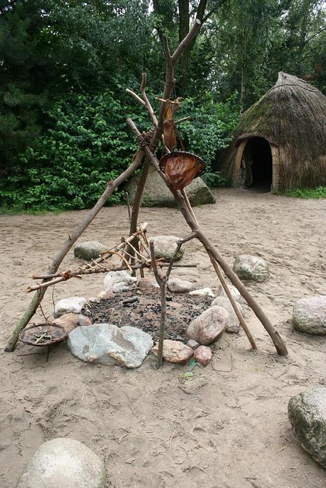 Dagelijks leven in de prehistorie.