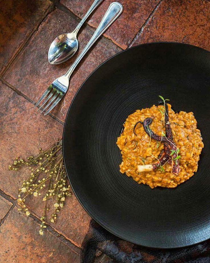 #bali #restaurant #bar #food #foodporn #dinner #lunch #italian #italianfood #decor #antique #cozy #tasty #octopus #risotto #risottodipolpobrasato #lasiciliabali