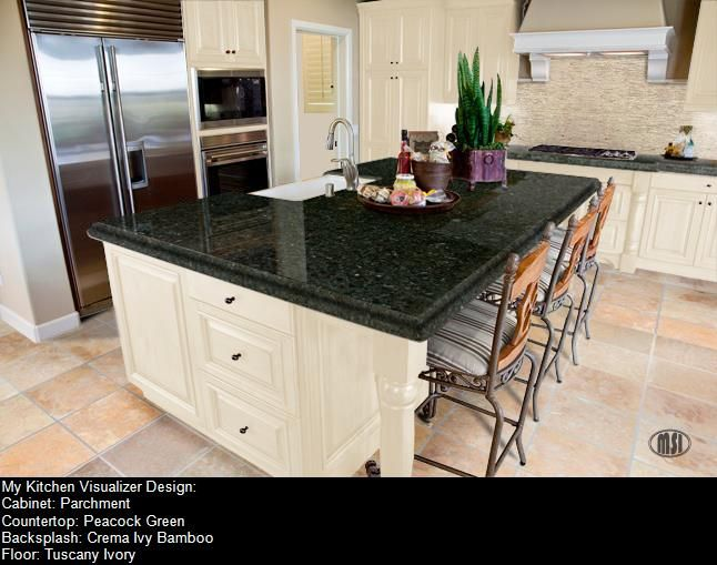 Crema Ivory Bamboo Bscksplash Tuscany Ivory Floor Peacock Green Prepossessing Virtual Kitchen Color Designer Review