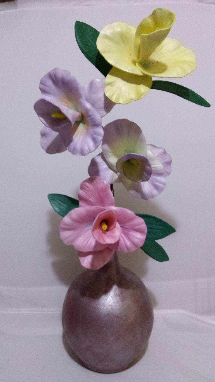 Flores de goma eva o foamy hechas con moldes termoformados - Flor de goma eva ...
