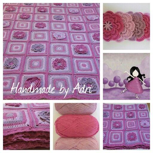 Ta-dah ... My 3rd crochet blanket finished.