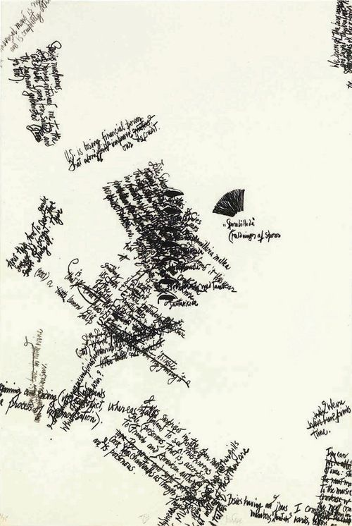 "John Cage, lithograph in ""Mushroom Book, Plate VIII"" (1972)"