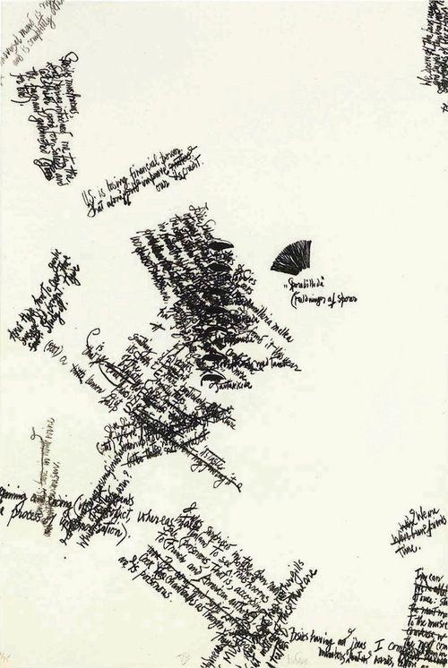 "John Cage, lithograph in ""Mushroom Book, Plate VIII"" (1972)"