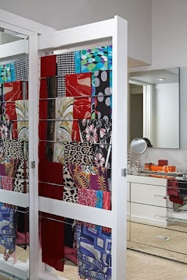 scarf storage ---- use as part of a room divider!!