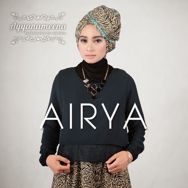 Ayyanameena Airya: Ayyanameena Airya Navy  #motif #chiffon #sifon #ayyanameena #airya #dress #moslem #hijab #jilbab #fashion #women #navy #blue