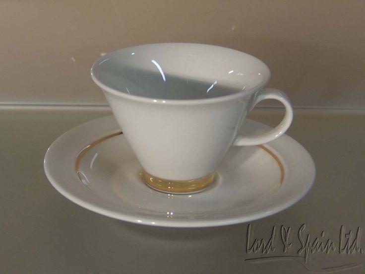 Arabia Finland GOLD HARLEKIN Demitasse/Espresso Cup & Saucer