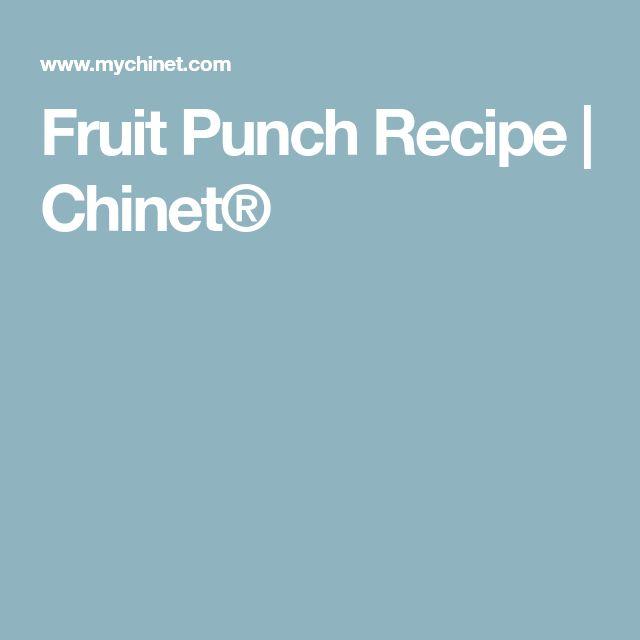 Fruit Punch Recipe   Chinet®