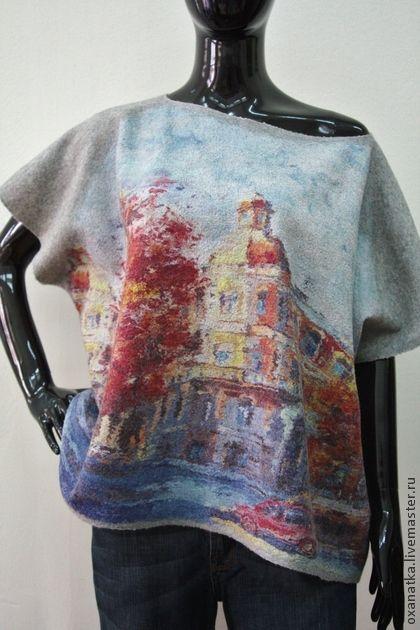 Кофты и свитера ручной работы. Ярмарка Мастеров - ручная работа Валяный свитер Римские каникулы. Handmade.
