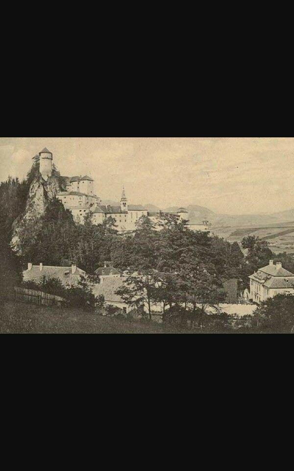 Dobová fotografia Oravský hrad Slovaquie