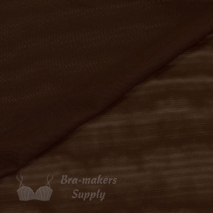 Shown in chocolate, our sheer and lightweight Stretch Mesh Fabric is very versatile, a great multipurpose material. Use for bras, dance costumes, skating costumes. 18 beautiful colours. #BrownMesh #StretchMeshFabric