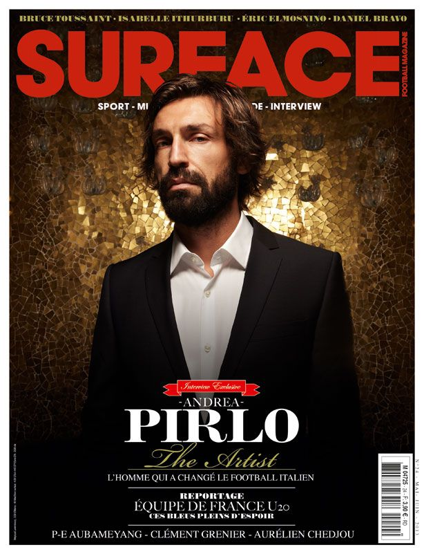 Andrea Pirlo on the cover of Surface football magazine, 2013.