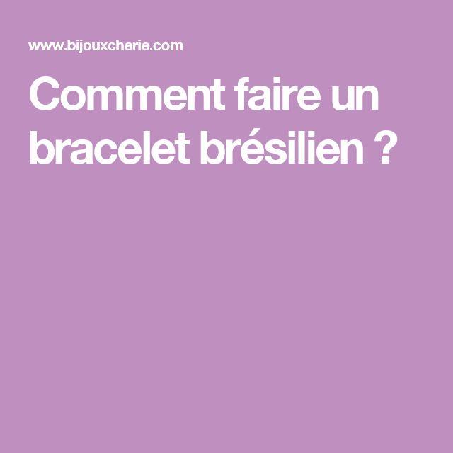 25 best ideas about faire un bracelet br silien on - Comment faire un porte bracelet ...