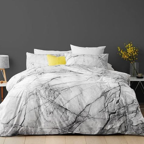 Refresh your bedding with our low prices every day like this marble quilt cover set, view our new range of bed quilts online or in store now ❤️#foundattarget