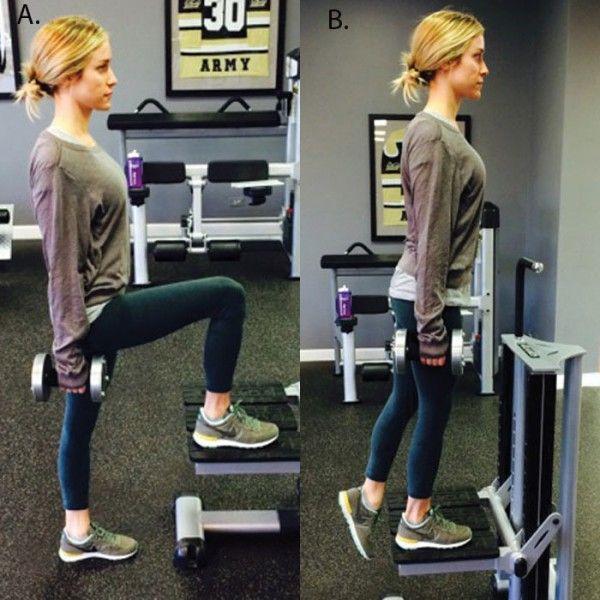 Kristin Cavallari Single Leg Step Up Leg Workout - Celebrity Fitness: Kristin Cavallari's Full Body Workout Plan - Shape Magazine
