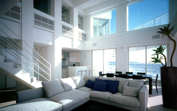 海を見晴らすリゾートハウス|建築実例|高級注文住宅│アーネストアーキテクツ