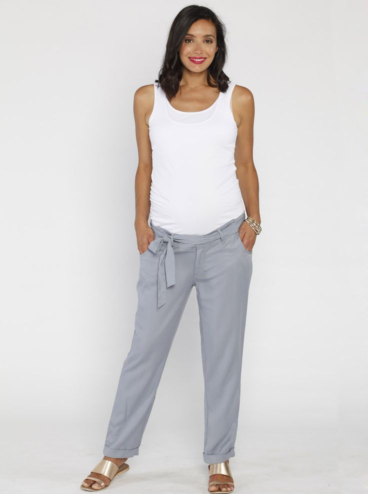 Comfortable Maternity Tencel Pants in Light Blue, $59.95, are perfect for any eco-conscious mum-to-be who likes to look stylish and stay comfy! Also available in black.