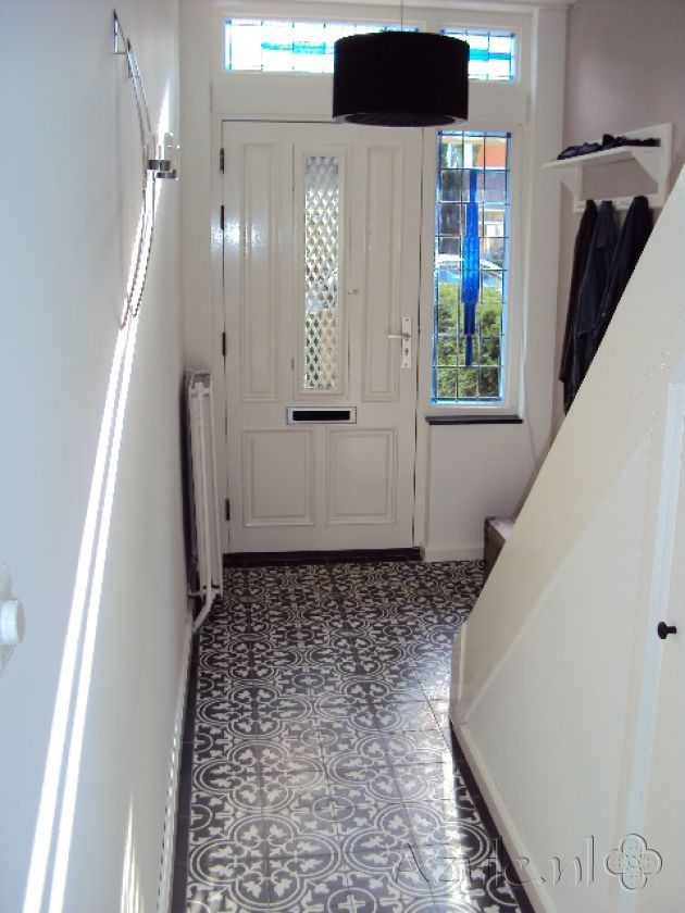 Cement tiles Hall - Negra 12 - Egal Negra S800 - Project van Designtegels.nl