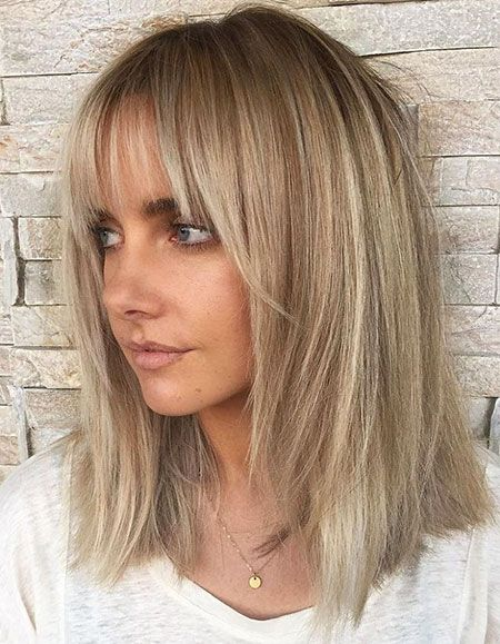 Latest hairstyles of medium length with pony 2019
