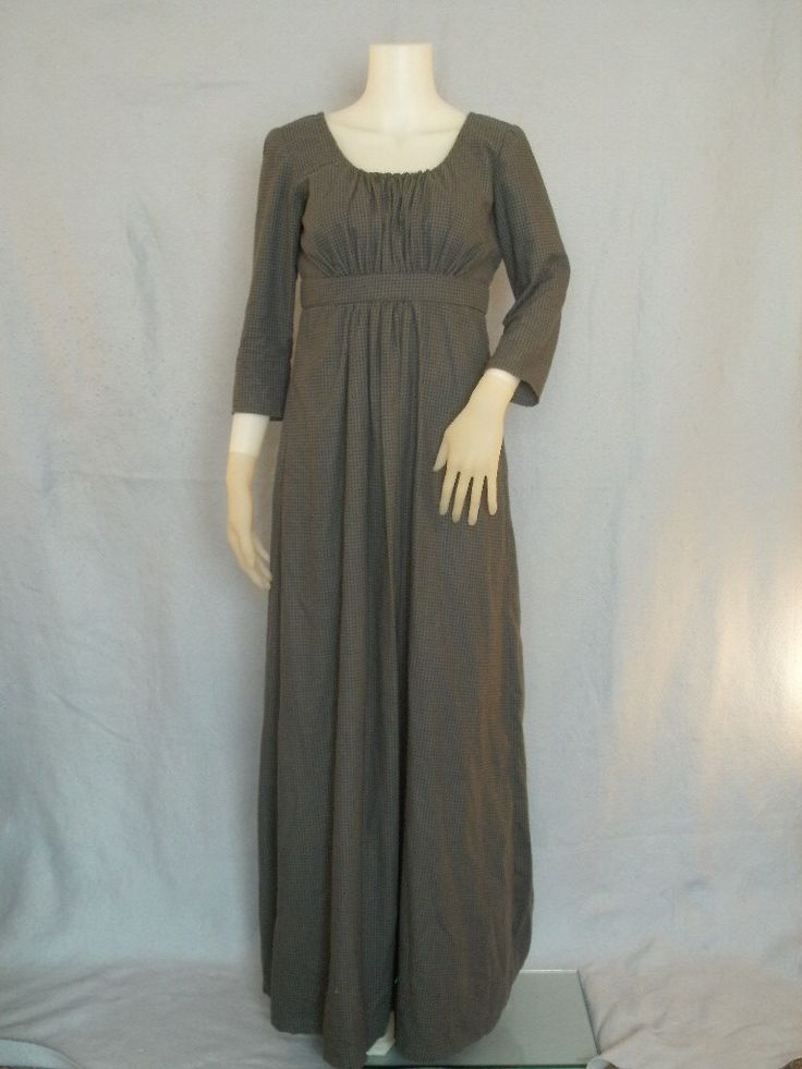 Simple Regency Costume Dress--- Sense and Sensibility style--- Modest Costume, Old English, Renaissance, Reenactment. $54.00, via Etsy.