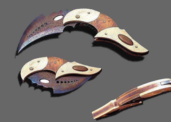 Delightful Custom Knives | Kain Custom Knives, Custom Damascus Art Knives, Custom Knife